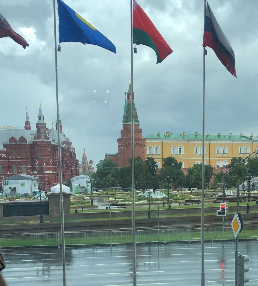 Moscow Russia, Red Square, St. Basil's Cathedral. GUM, National hotel
